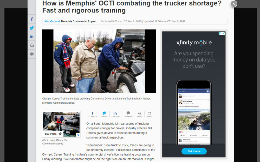 Commercial Appeal – How is Memphis' OCTI combating the trucker shortage? Fast and rigorous training